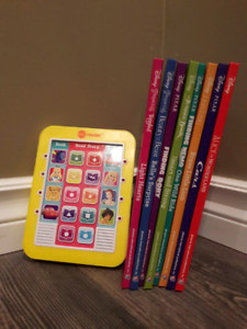 Electronic reader with 8 Disney books