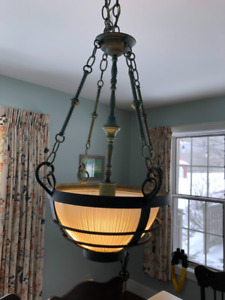 REDUCED!!!!!Chandelier. Green resembling weathered copper.