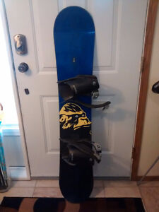 New snowboard with bindings