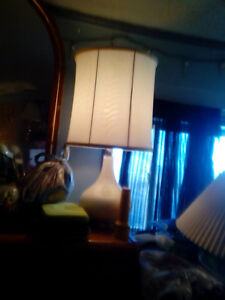 white funky table lamp