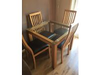 Square table 90x90cm - table only