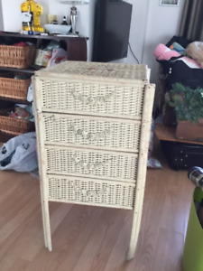 Table, dresser Very old wicker $19