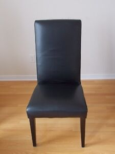 Black Cow Hide Leather Chairs - Ad Ends May 28th