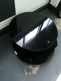 Black Gloss Designer coffee table - 360 Degree Rotation