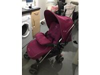 Silver cross reflex stroller raspberry colour