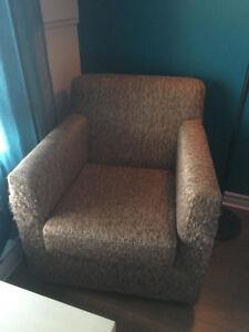 fauteuil avec tissu en laine, woolen armchair