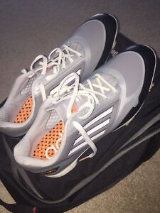 Adidas Men's Adizero Grey/Zest/ Golf shoes size 11.5