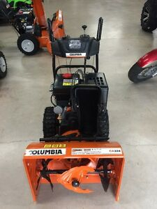 Columbia snowblowers are now available at Roy Duguay sales
