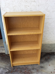 Six Wood Bookshelves with Adjustable Shelves