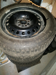 ford fusion winter tires on steel rims