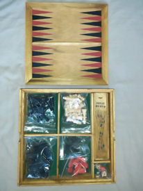 Chess,dominoe,backgammon,draughts set