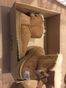 UGG ankle boots size 3 & 5, brown & black, almost new condition