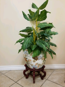 Artificial Plant with Vase & Stand