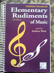ELEMENTARY RUDIMENTS OF MUSIC THEORY BOOK
