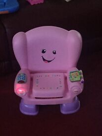 Pink Fisher Price Laugh and Learn Chair