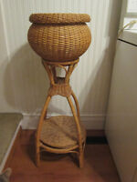 Large Rattan/Wicker - Double Plant Stand