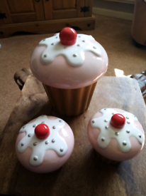 Set 3 Cupcake Storage Jars