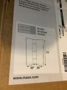 36 x 36 Maax Corner Shower Walls - Brand New Condition