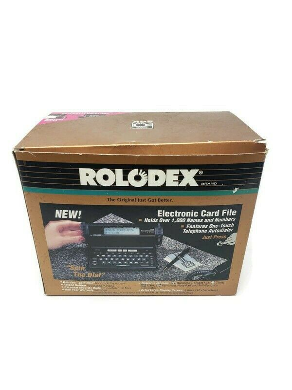 New Vintage 1990 Rolodex The Electrodex Plus 24K  Electronic Card File