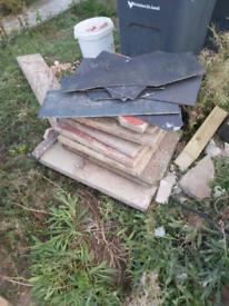 Patio slabs, bricks & rubble