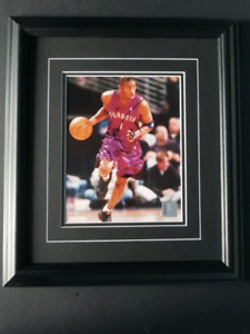 Tracy McGrady Signed Framed Toronto Raptors Photo