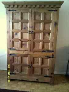 SOLID MEXICAN PINE ARMOIRE