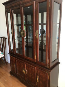 Beautiful large cherry wood china cabinet FOR SALE!!