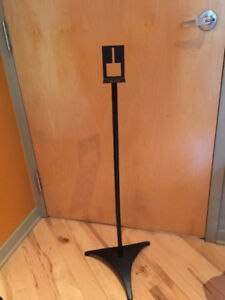 Four Black Cast Metal Mini-Speaker Stands (not adjustable)