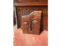 Buddha solid wood wall art