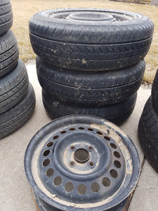 Used 175/65-14 tires/rims for a Honda***************************