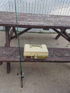 Fishing rod, reel and tackle box for sale