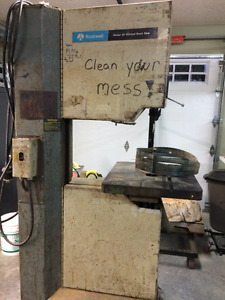 """20"""" Rockwell Bandsaw for sale"""