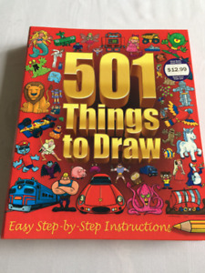 501 Things to Draw(Step by step instructions) ages 7yrs and up