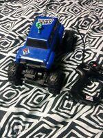 Remote control cars.
