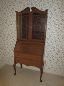 Antique (c1935) Drop Front Desk with Upper Display