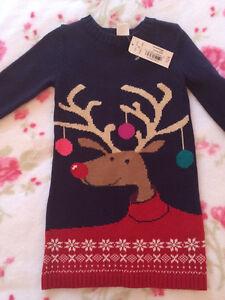 Reindeer sweater dress bnwt size 3t