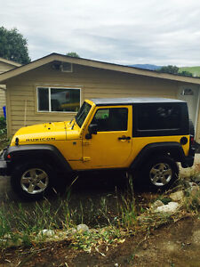 2008 Jeep Wrangler Yellow Coupe (2 door)