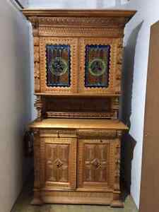 Antique Oak buffet and hutch (early 1900's) bought in Germany