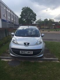 Peugeot 107 1.0L cheap tax and insurance