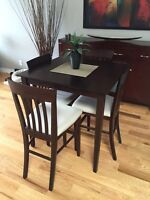 Square Bistro Table and 4 Chairs - Good Condition