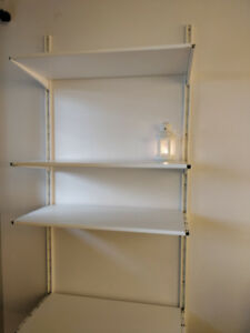 Shelves - white wall mounted shelves from Ikea