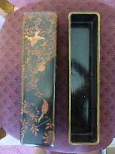 Vintage Japanese Hair Accessory Storage Box Lacquered
