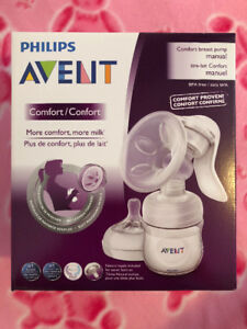 Avent single breast pump & Medela therashells.