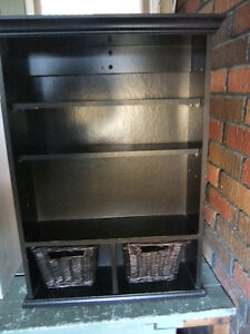 cabinet wall shelf with 2 removable baskets