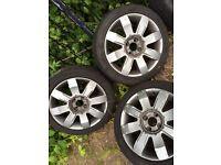Clio alloys, 4 new tyres