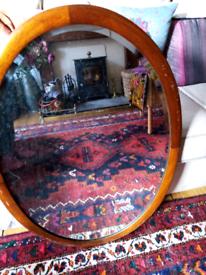 Vintage mahogany mirror.