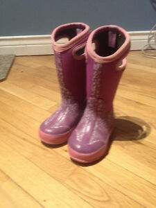 Bogs Boots Purple/ girl size 10