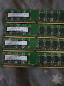 Hynix 4x 1gb ddr2 memory (ram)