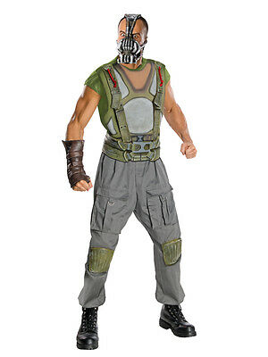 Mens Deluxe Bane Fancy Dress Costume Batman Dark Knight Halloween Outfit + Mask