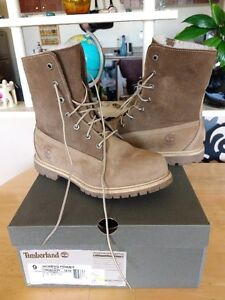 Timberland Fleece Lined Taupe Boots, only worn a few times